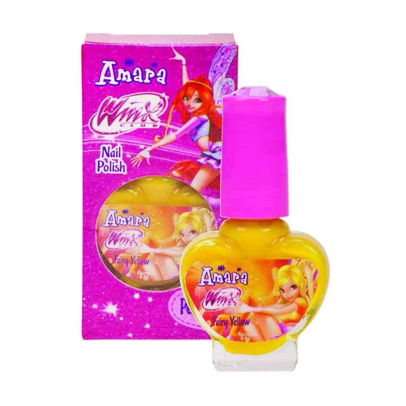 Amara Nail Polish Winx Club Fairy Yellow - 2in1