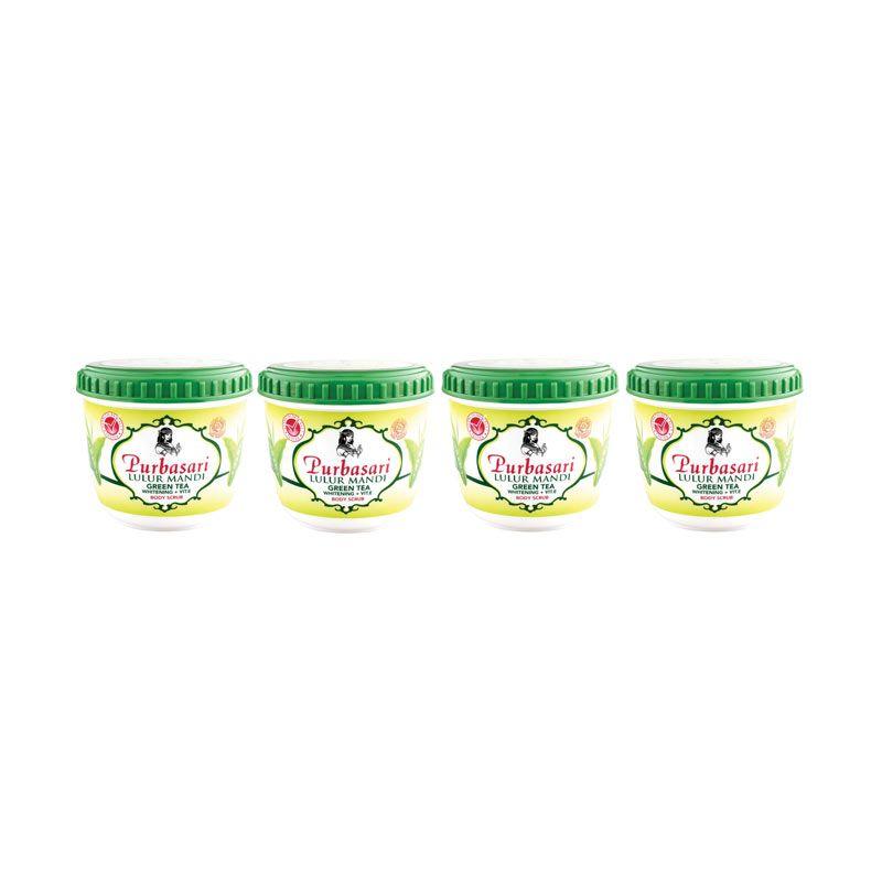 Purbasari Lulur Mandi Green Tea 135gr (4in1)