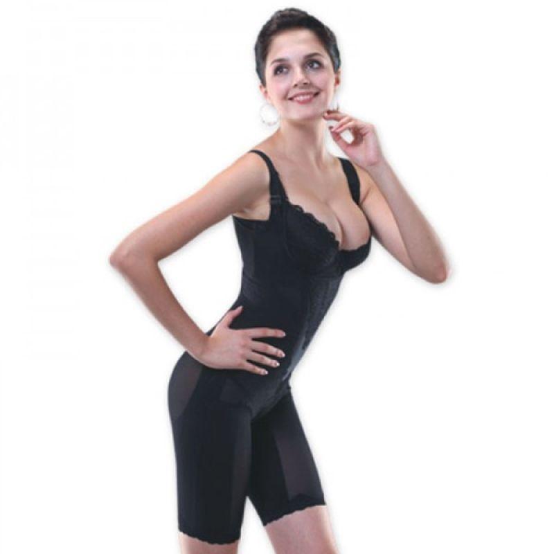 V-Shape Bodysuit Lingerie Hitam Coklat Pakaian Pelangsing by Gogo Mall