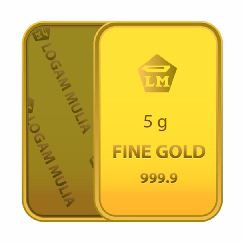 Gold Bar Emas 999.9 Logam Mulia [Sertifikat Antam-5 g]