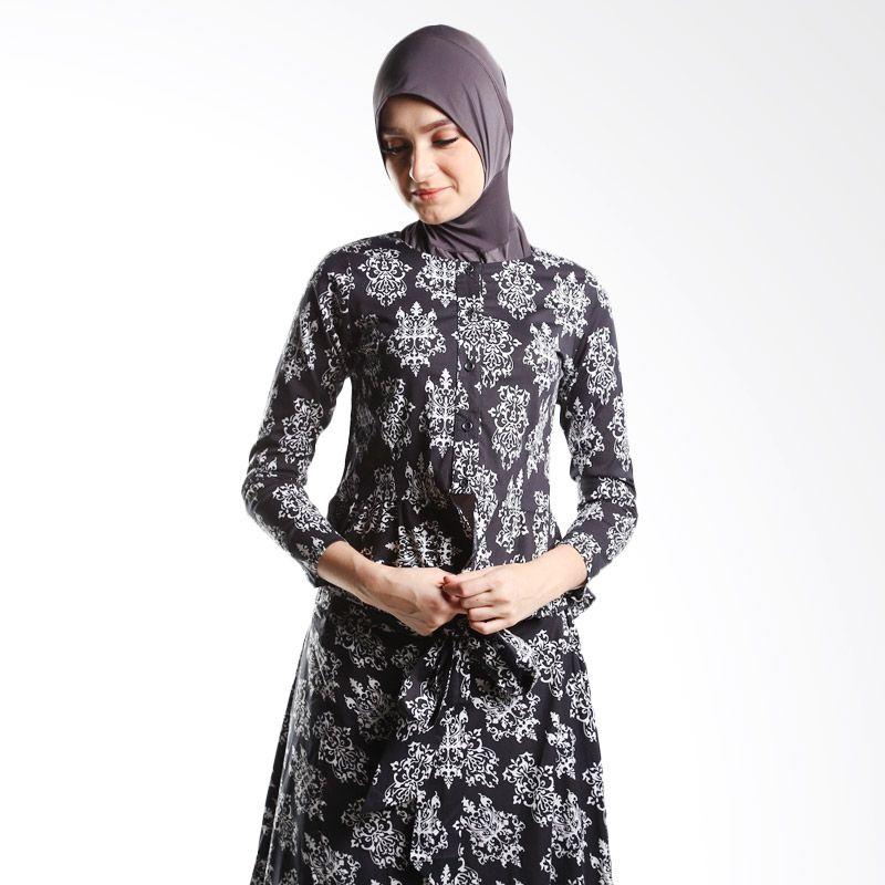 Goldee cloth Blazer Pattern Victory Black Atasan Muslim Wanita