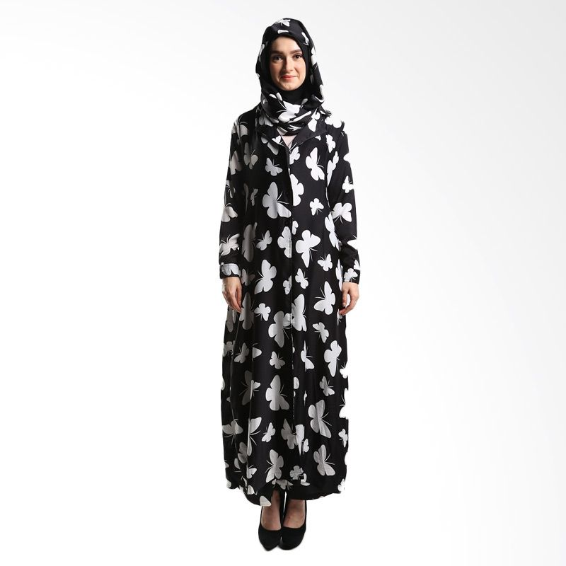 Goldee Cloth Butterfly Coat Black Dress Muslim