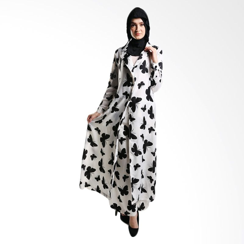 Goldee Cloth Butterfly Coat White Dress Muslim