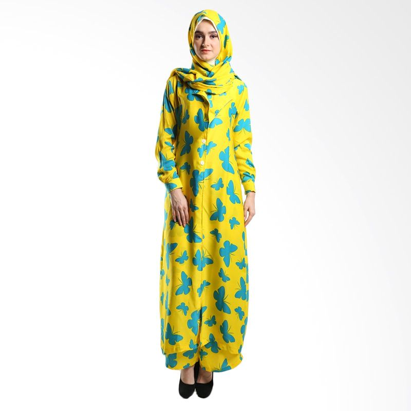 Goldee Cloth Butterfly Coat Yellow Dress Muslim