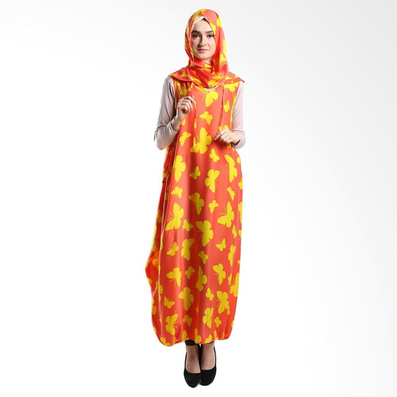 Goldee Cloth Butterfly Hoodie Ball Orange Dress Muslim
