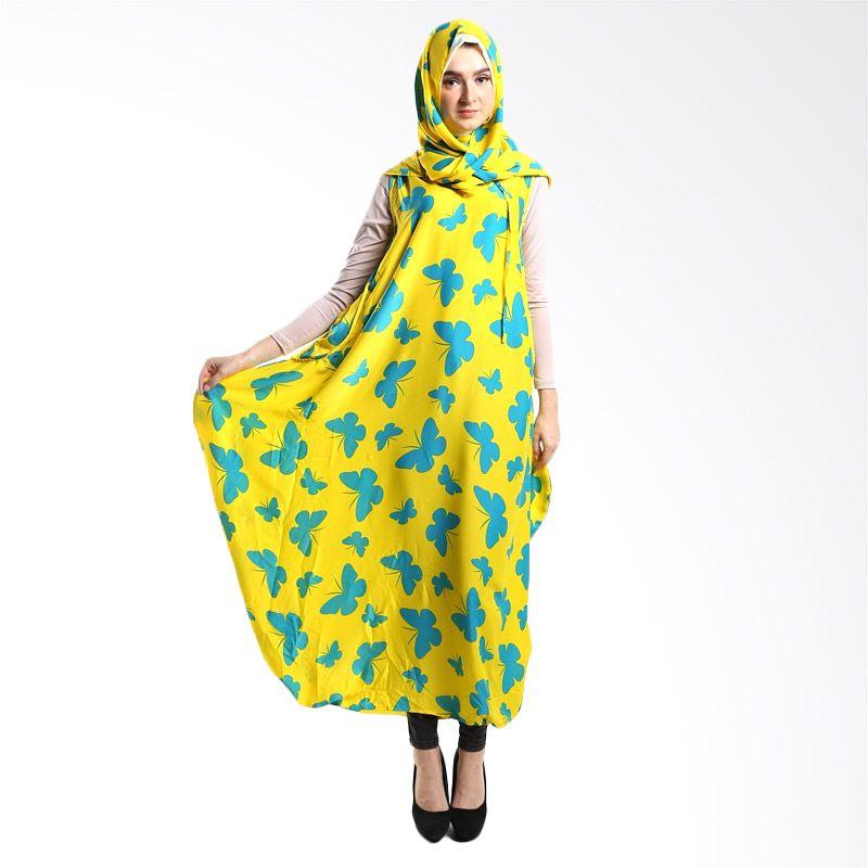Goldee Cloth Butterfly Hoodie Ball Yellow Dress Muslim