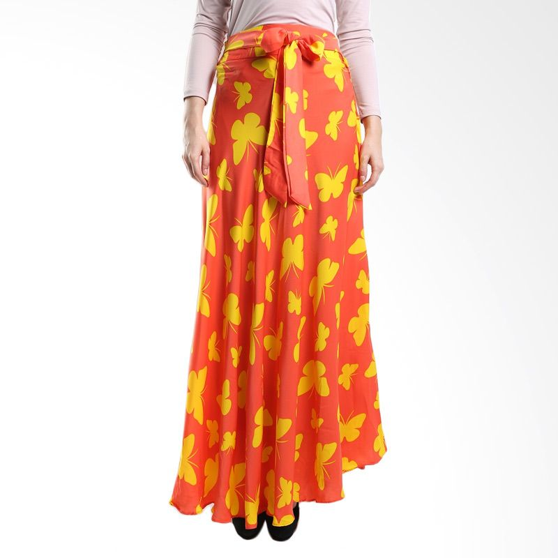 Goldee Cloth Butterfly Skirt Orange Rok