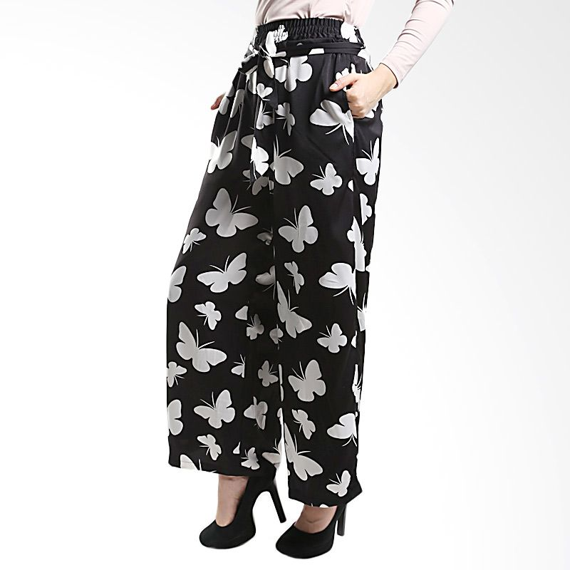 Goldee Cloth Butterfly Suit Pant Black Bawahan Muslim