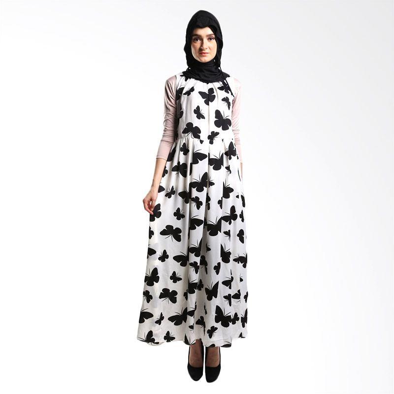 Goldee Cloth ID Butterfly White Dress Muslim