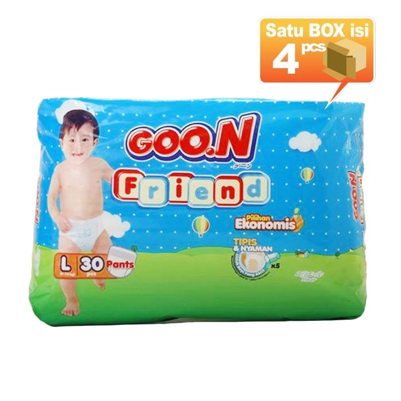 Goo.N Smile Baby Pants Popok Bayi L 30 [4 Pcs per Karton]