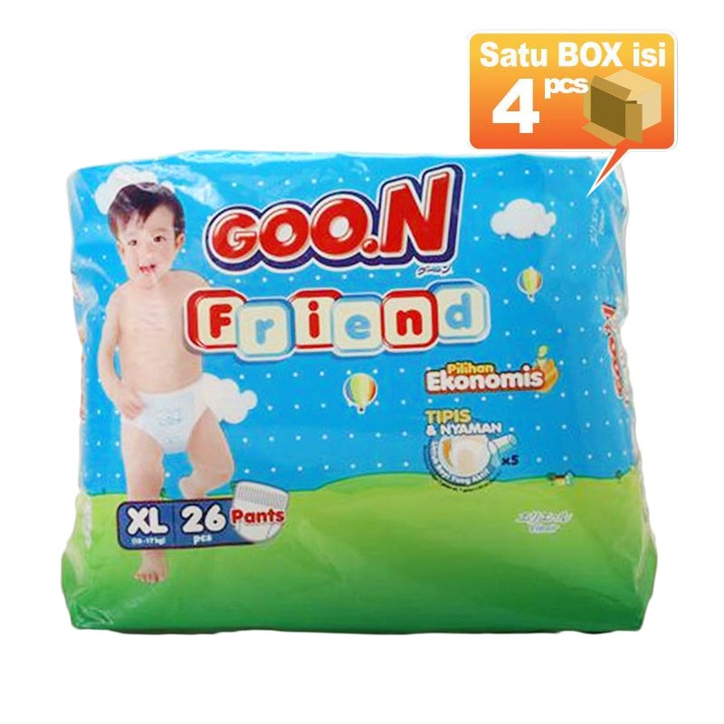 Goo.N Smile Baby Pants Popok Bayi XL 26 [4 Pcs per Karton]