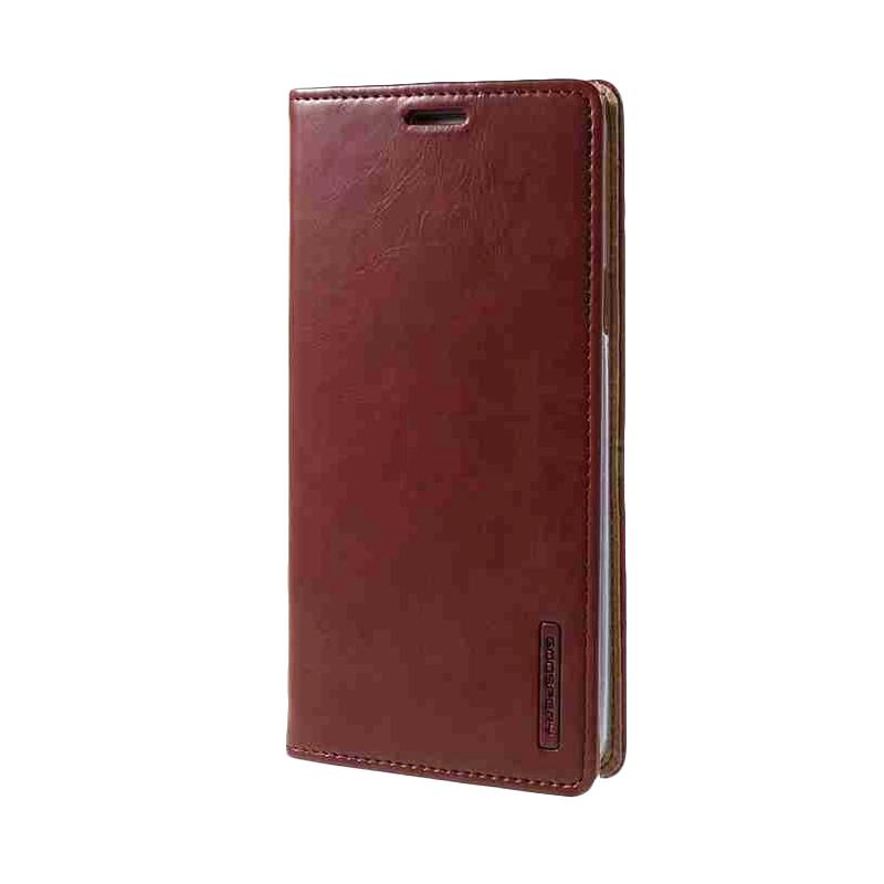 Leather Case Samsung Galaxy Note 5 Sarung Kulit Original Mercury Goospery Blue Moon Flip