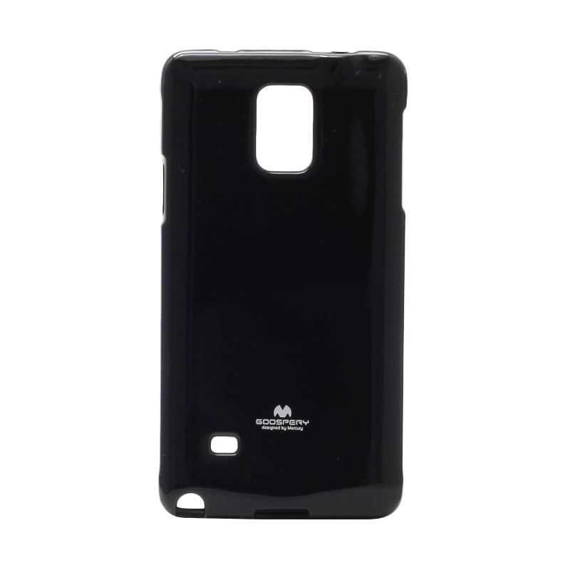 harga Goospery Mercury Original Color Pearl Jelly Softcase Casing for Samsung Galaxy Note 4 - Black Blibli.com