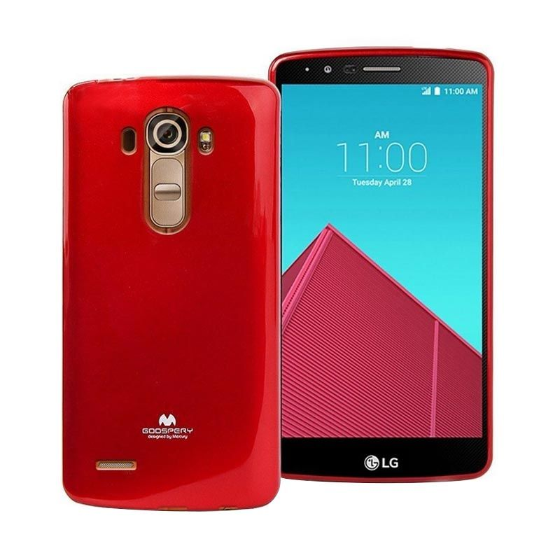 Mercury Goospery Jelly Glitter Red Casing for LG G4