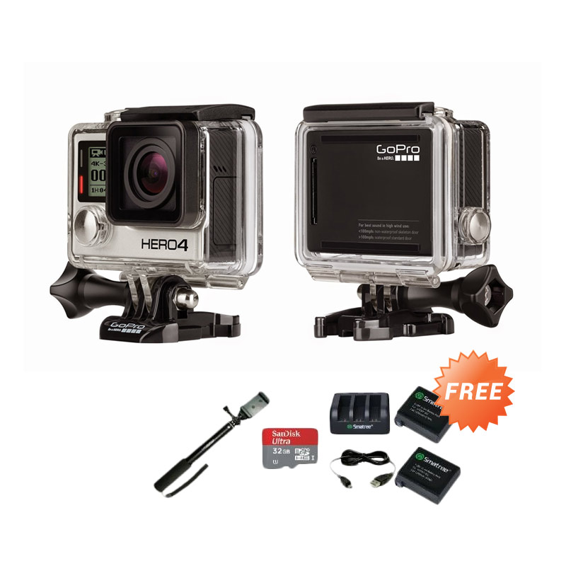 Paket Traveling Kamera GoPro HERO4 Black Edition Action Cam