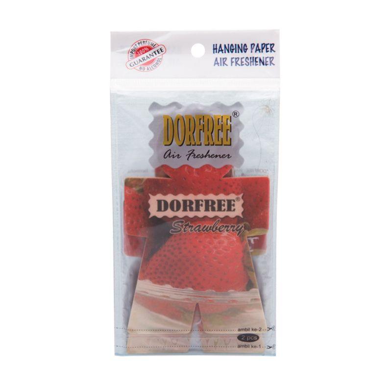Dorfree Hanging Paper Strawberry Parfum Mobil (2 Pcs)