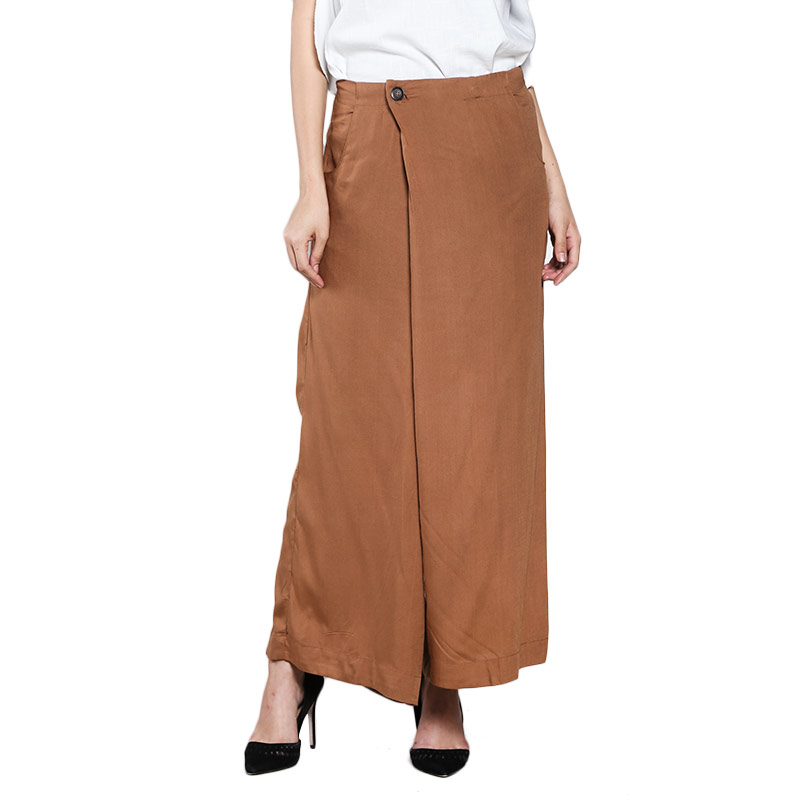 Graphis 16YS11601 Long Cullote Pants - Brown