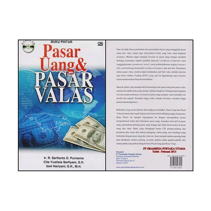 Grazera Buku Pintar Pasar Uang & Pasar Valas - Ir. R. Serfianto D. Purnomo Buku Ekonomi & Bisnis