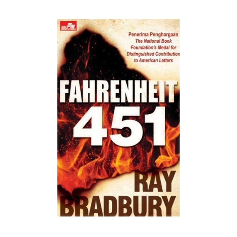 Grazera Fahrenheit 451 by Ray Bradbury Buku Fiksi