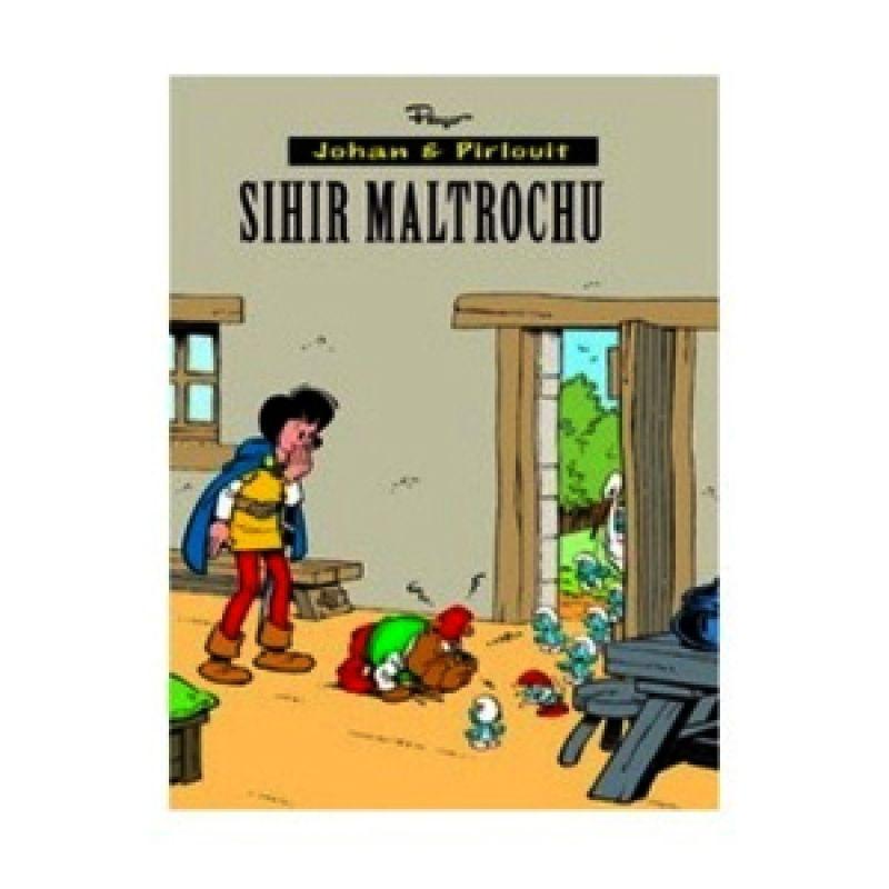 Grazera Johan dan Pirlouit Sihir Maltrochu by Peyo Buku Komik