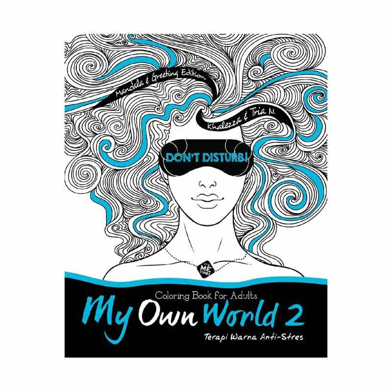 Grazera My Own World 2 Coloring Book For Adults Terapi Warna Anti Stres