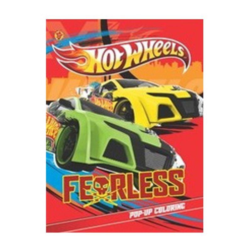 Grazera Pop Up Coloring HotWheels Fearless by Mattel East Asia Limited Buku Hobi