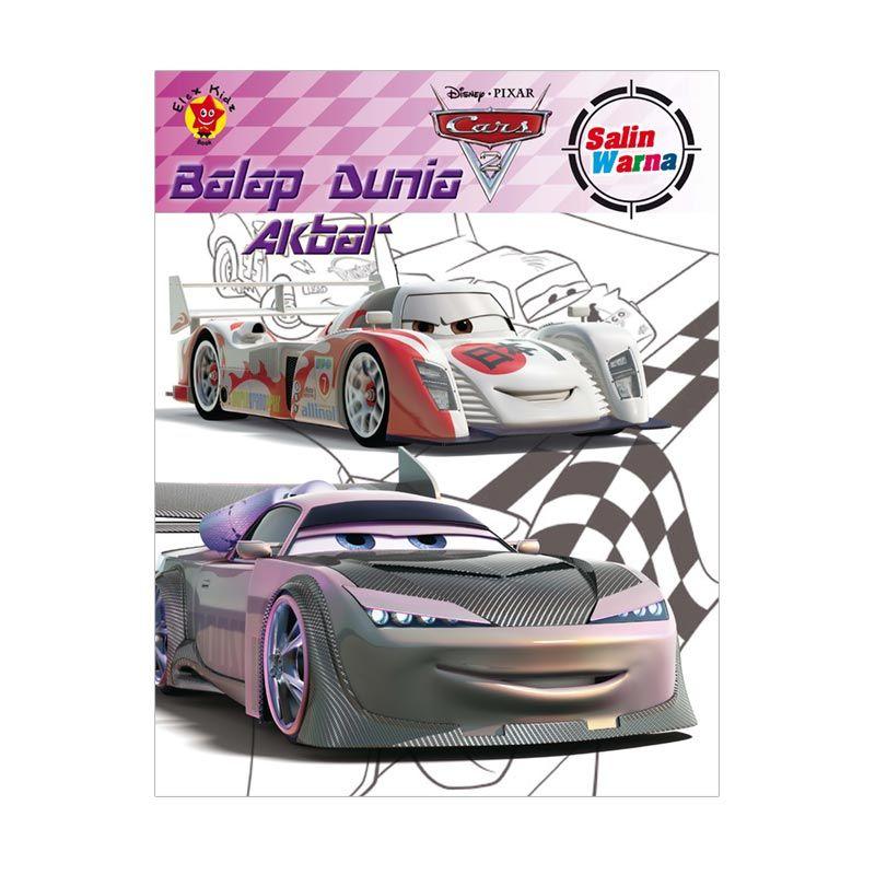 Grazera Salin Warna Cars 2 Balap Dunia Akbar by Disney Buku Mewarnai