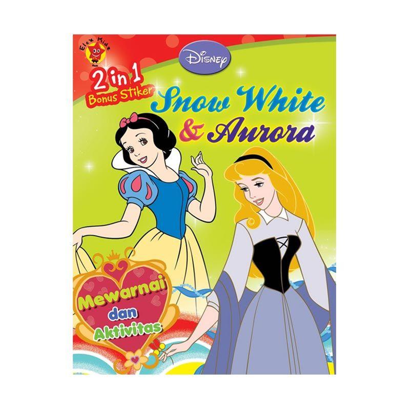 Grazera Snow White and Aurora Buku Mewarnai + Stiker