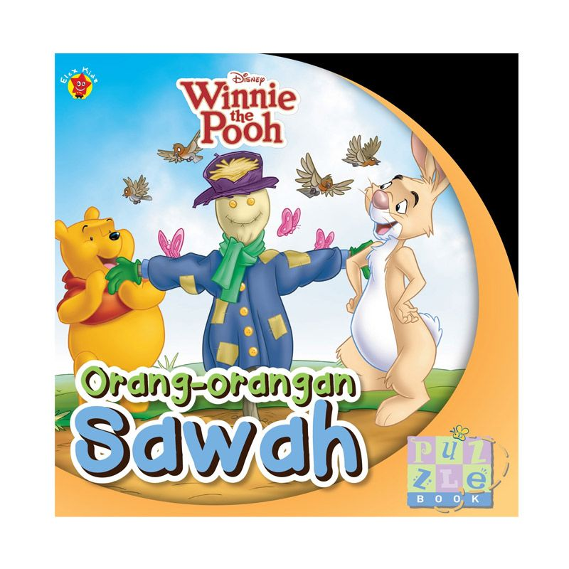 Grazera Winnie The Pooh Puzzle Book Orang-Orangan Sawah By Disney Buku Anak