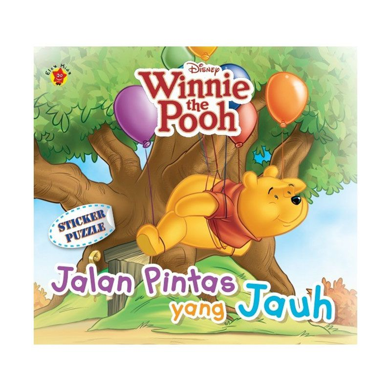 Grazera Winnie The Pooh Sticker Puzzle Jalan Pintas Yang Jauh By Disney Buku Anak
