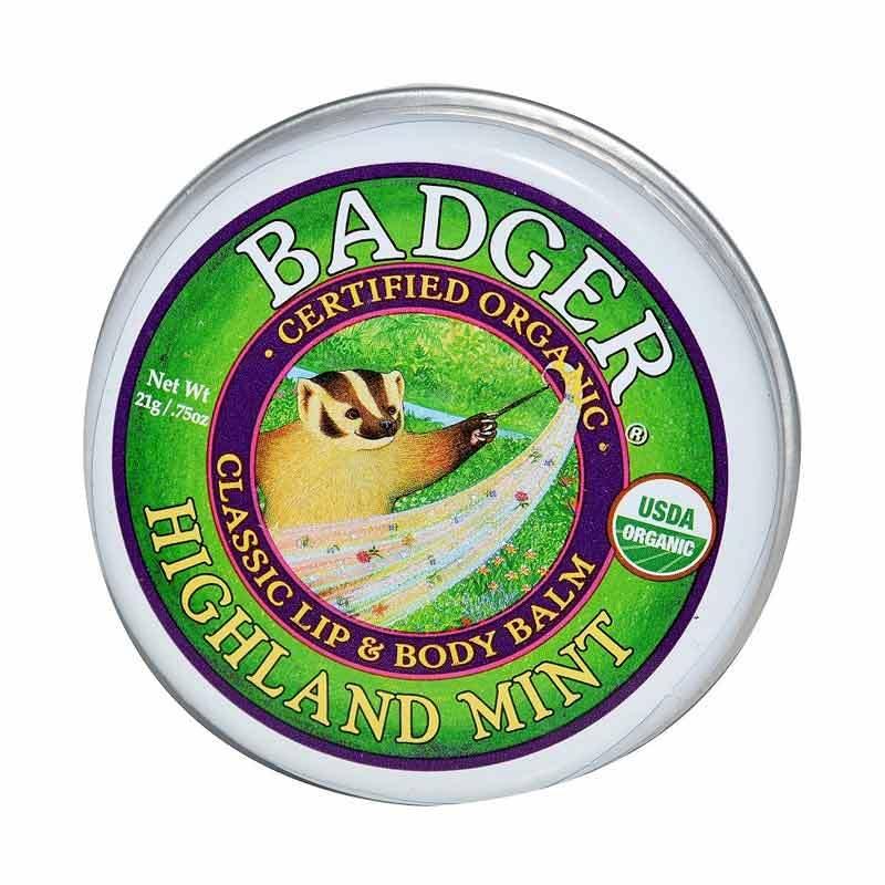 BADGER Highland Mint Lip & Body Balm
