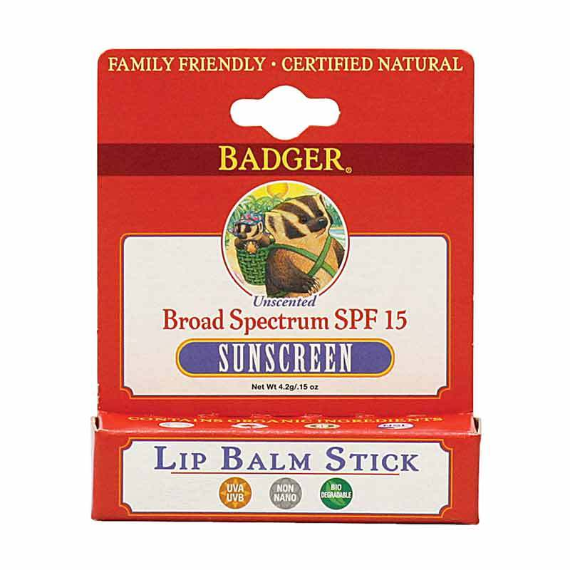 BADGER Lip Balm SPF15 Sunblock