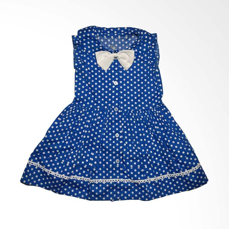 Gleoite Wardrobe Polkadot Biru Dress Anak