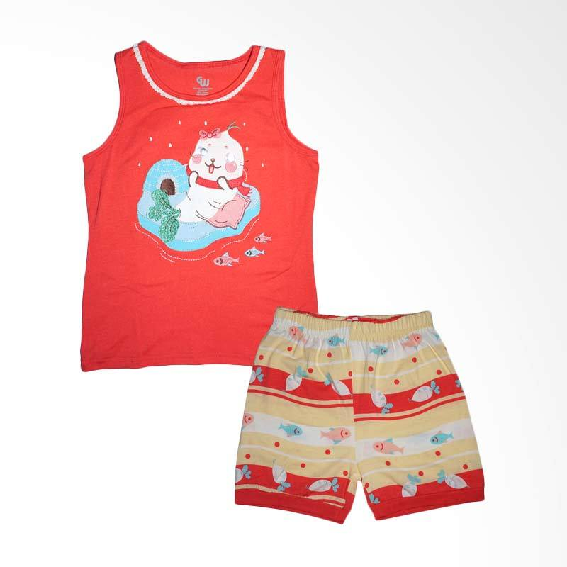 Gleoite Wardrobe Seals Fish Merah Set Baju Anak