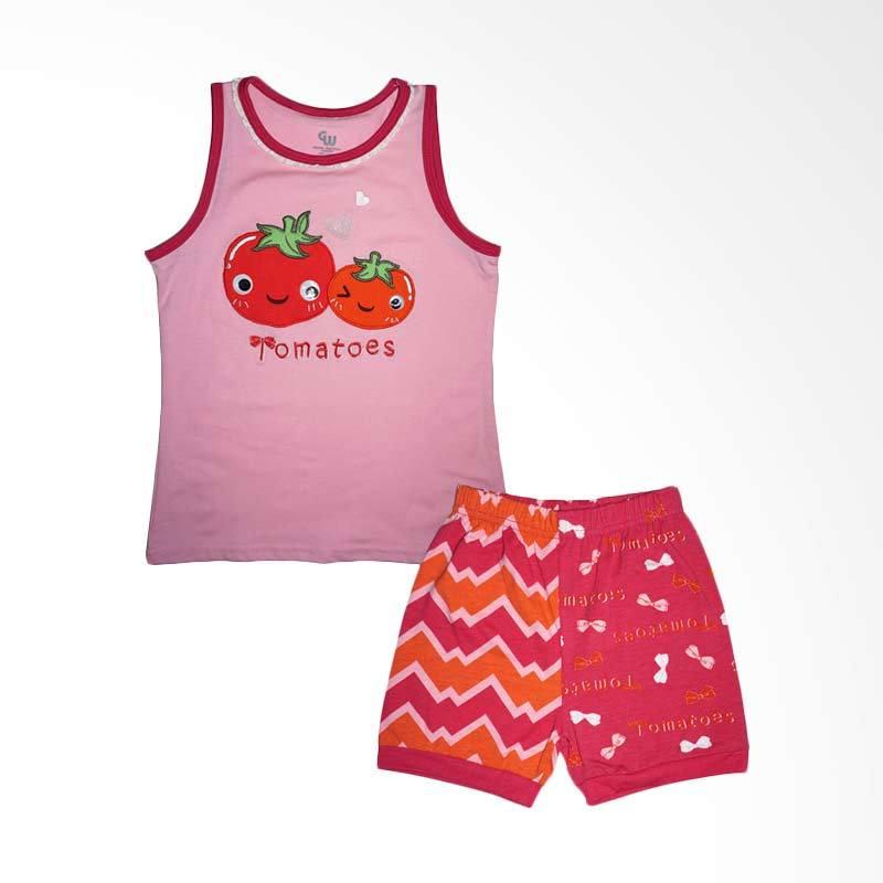 Gleoite Wardrobe Tomatoes Merah Muda Baju Anak