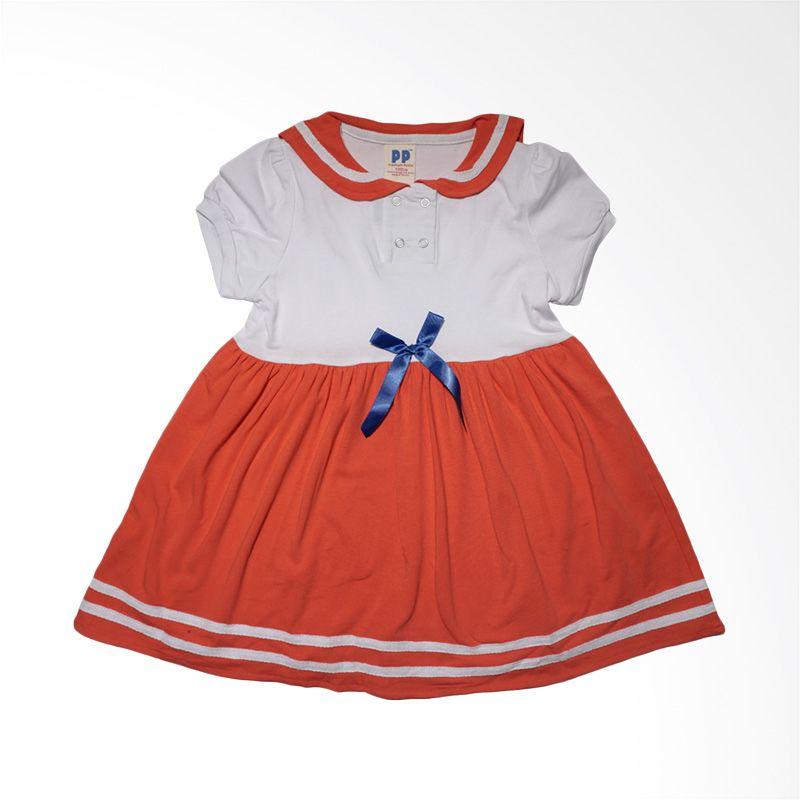 Premium Pastel Putih Merah Dress Anak