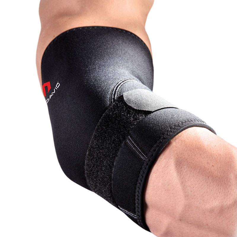 McDavid 485 Black Elbow Support with Strap Alat Pelindung