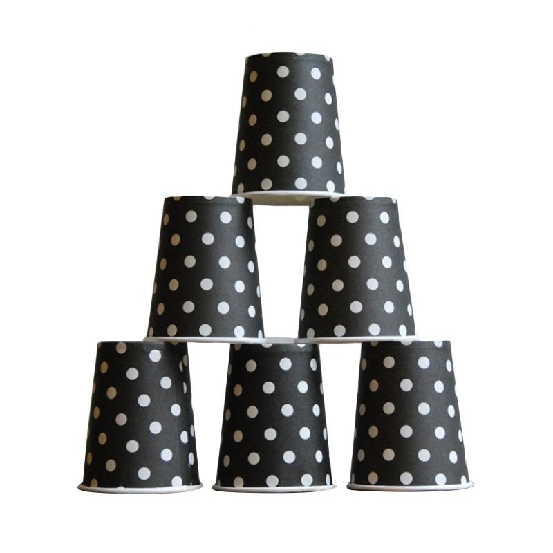 harga Grins and Giggles Paper Cup Gelas Kertas Dot Hitam Blibli.com