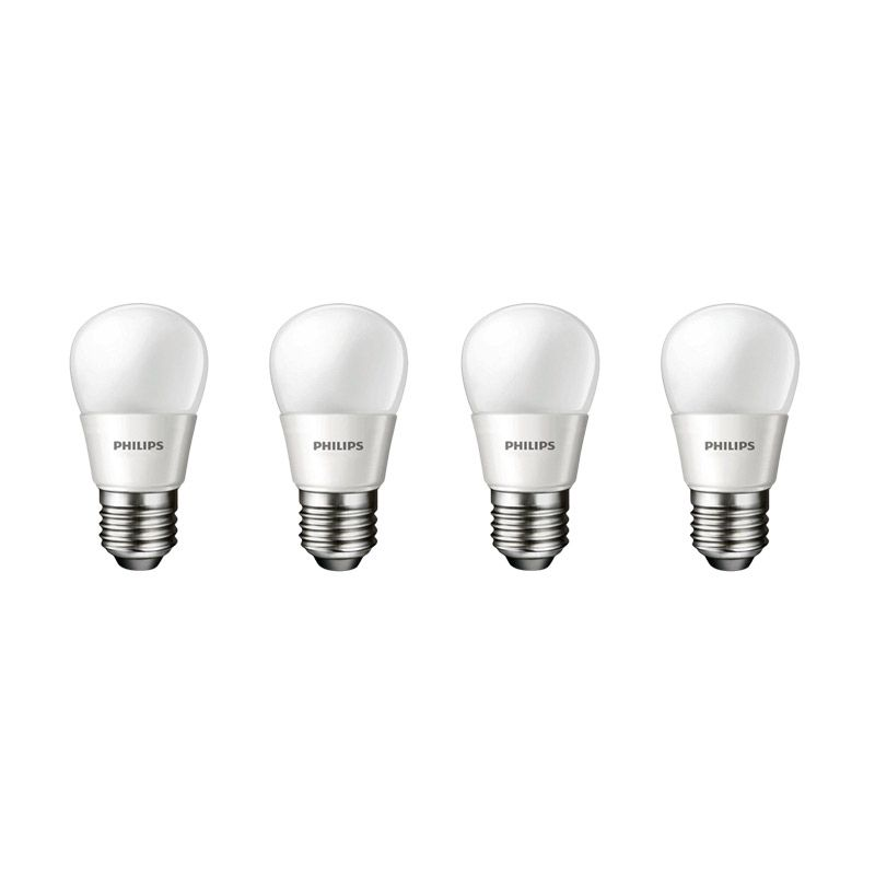 Philips LED Putih Lampu Bohlam [3 W-25 W/ 4 Pcs]