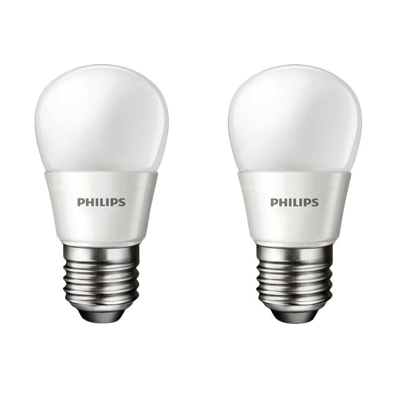 Philips LED Putih Lampu Bohlam [4 W-40 W/ 2 Pcs]