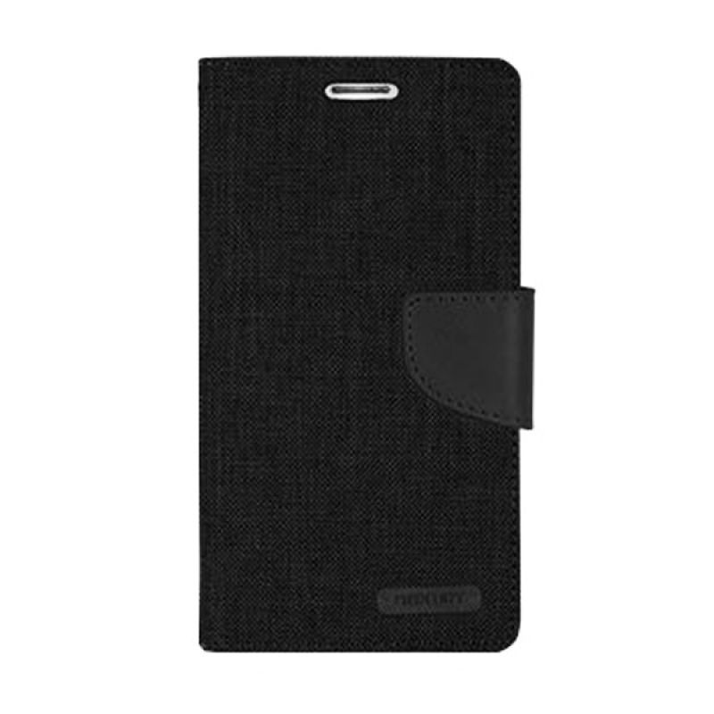 Mercury Goospery Canvas Diary Black Casing for Asus Zenfone 2