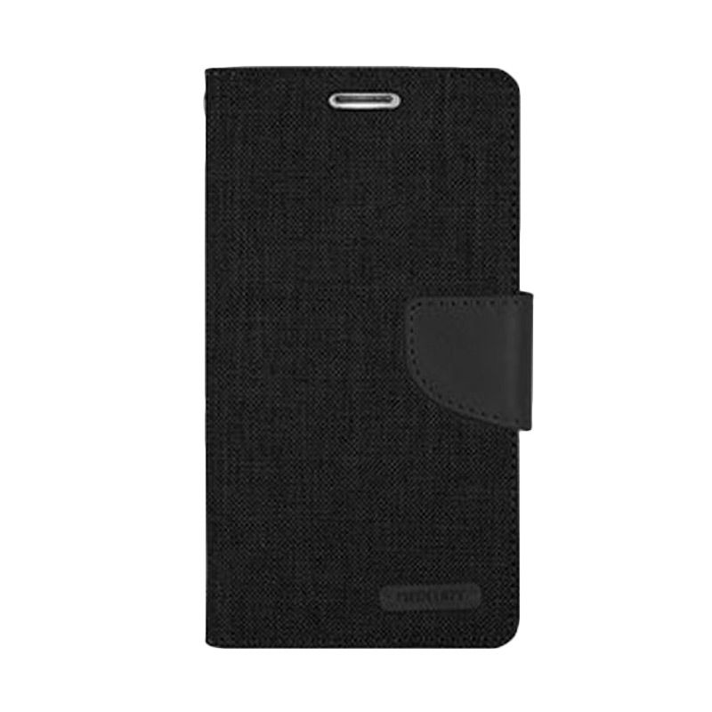 Mercury Goospery Canvas Diary Black Casing for Galaxy A3
