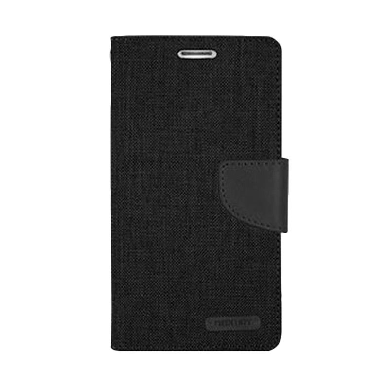 Mercury Goospery Canvas Diary Black Casing for Galaxy A5