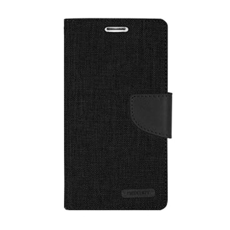 Mercury Goospery Canvas Diary Black Casing for Galaxy S5
