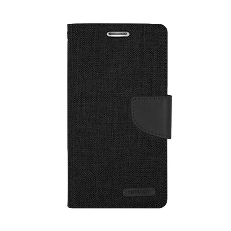 Mercury Goospery Canvas Diary Black Casing for LG G3