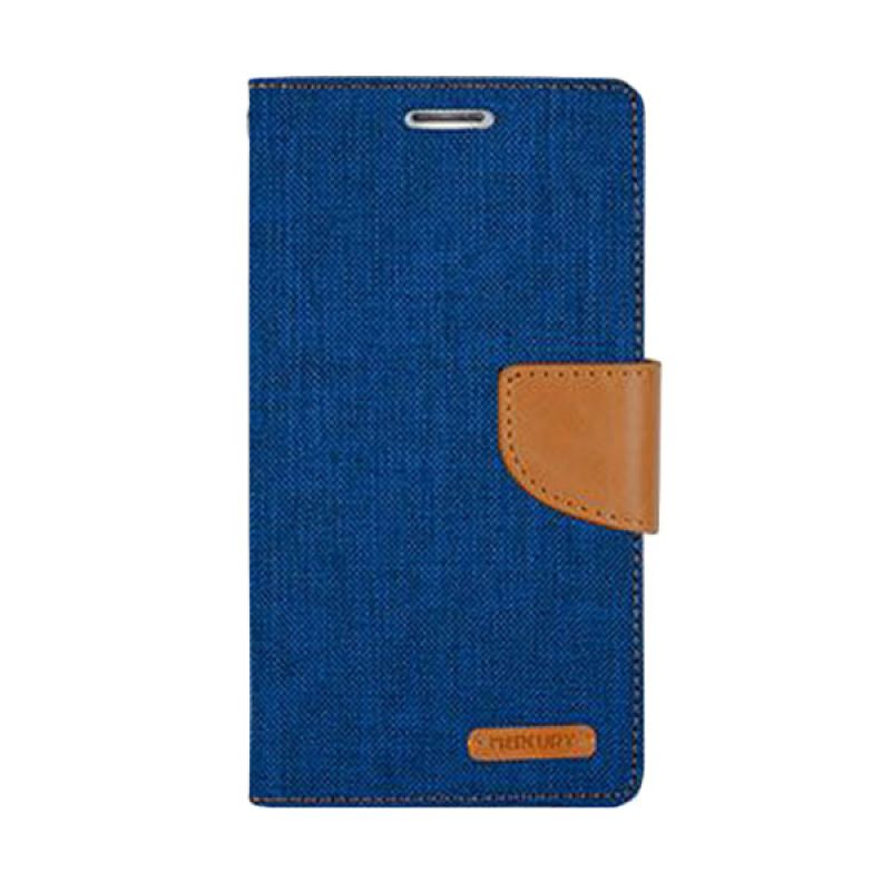 Mercury Goospery Canvas Diary Blue Casing for Galaxy Note 3
