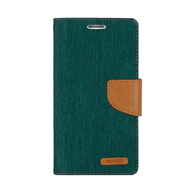 Mercury Goospery Canvas Diary Green Casing for Galaxy Ace NXT