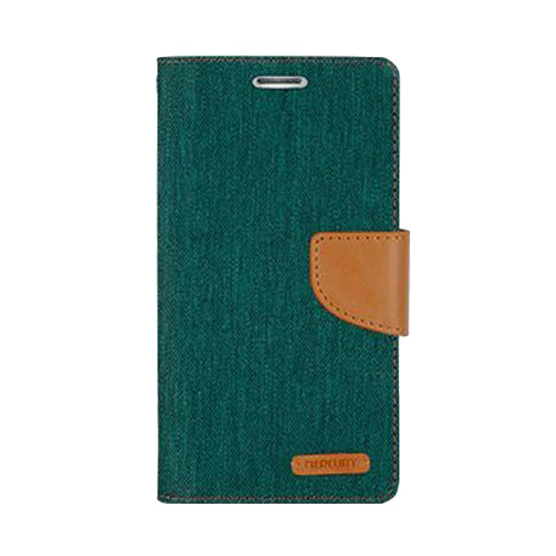 Mercury Goospery Canvas Diary Green Casing for LG G3