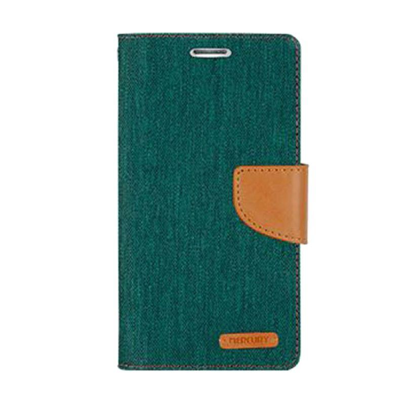 Mercury Goospery Canvas Diary Green Casing for LG G4
