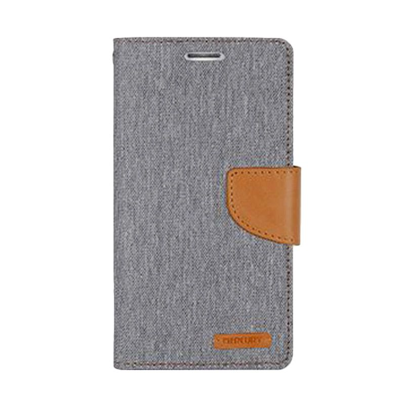 Mercury Goospery Canvas Diary Grey Casing for Galaxy A5